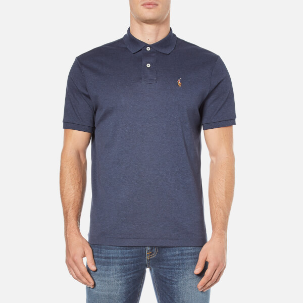 Polo Ralph Lauren Men's Short Sleeve Pima Cotton Custom Fit Polo Shirt - Midnight Blue