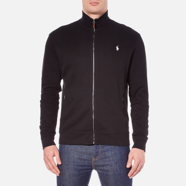 Polo Ralph Lauren Men's Full Zip French Rib Knitted Jumper - Polo Black