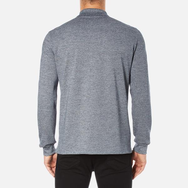 e00e1a76dd8d14 Lacoste Men s Long Sleeve Marl Polo Shirt - Navy Blue Mouline  Image 3