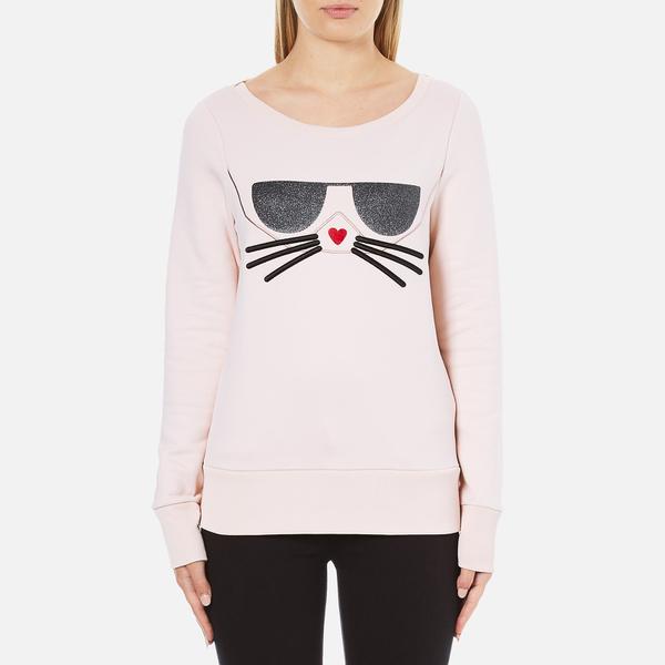 Karl Lagerfeld Women's Kocktail Choupette Sweatshirt - Rose Smoke