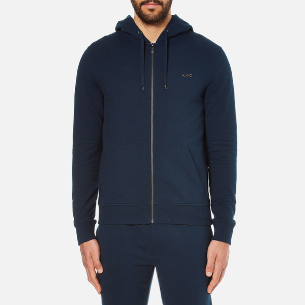 Michael Kors Men's Stretch Sweat Full Zip Hoody - Midnight