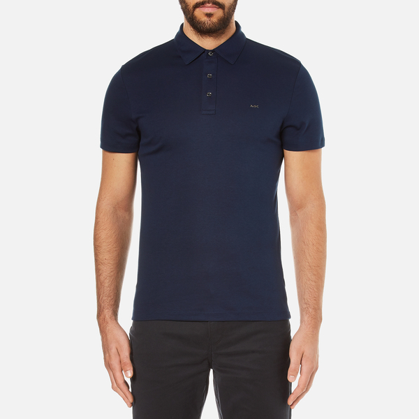 Michael Kors Men's Liquid Cotton Short Sleeve Polo Shirt - Midnight