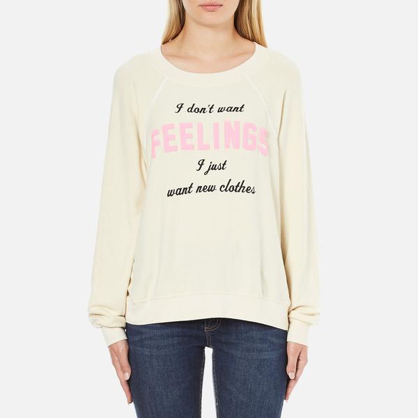 Wildfox Women's New Clothes Kims Sweatshirt - Vanilla Latte