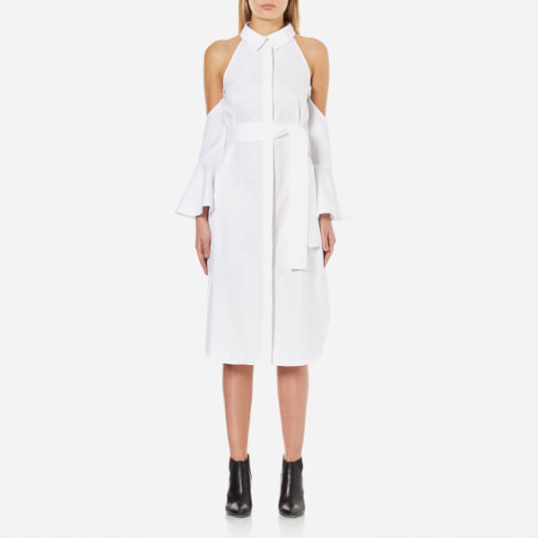 C/MEO COLLECTIVE Women's Show Me Shirt Dress - White