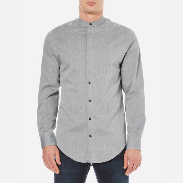 Selected Homme Men's Bone Long Sleeve Shirt - Steel Grey