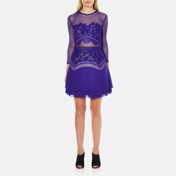 Three Floor Women's Fortune Dress - Ink Blue/Nude