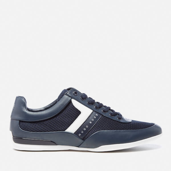BOSS Green Men's Space Mesh Trainers - Dark Blue