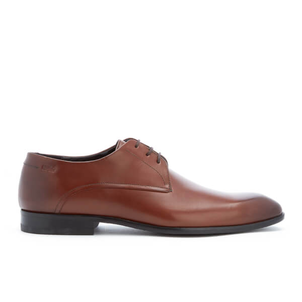 HUGO Men's C-Dresios Brushed Leather Lace Up Derby Shoes - Medium Brown