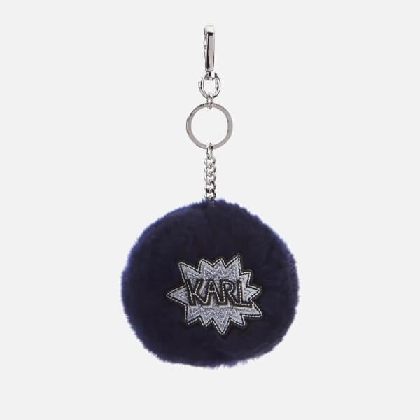 Karl Lagerfeld Women's K/Pop Fuzzy Keychain - Dark Sapphire