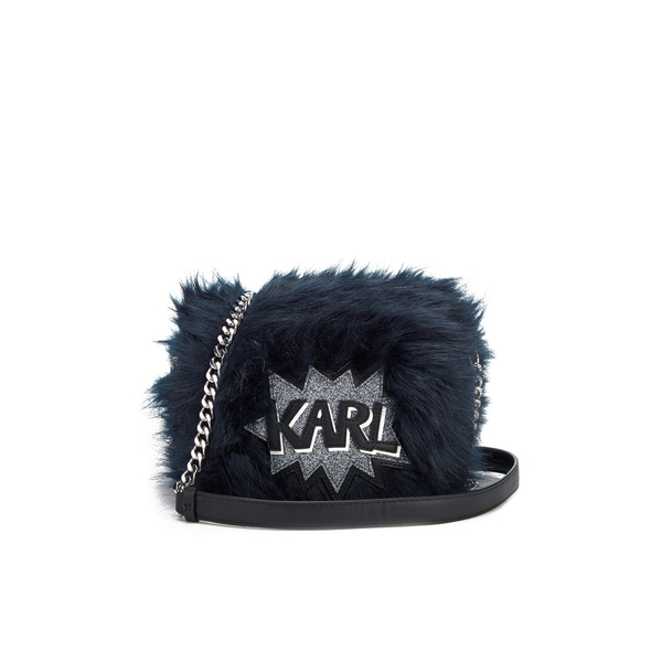 Karl Lagerfeld Women's K/Pop Fuzzi Cross Body Bag - Dark Sapphire