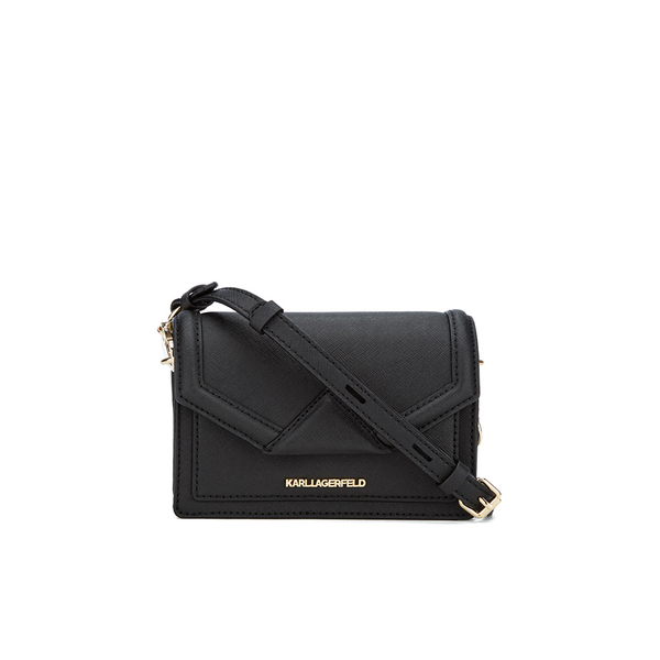 ff8f4fec8231 Karl Lagerfeld Women s K Klassik Super Mini Cross Body Bag - Black  Image 1