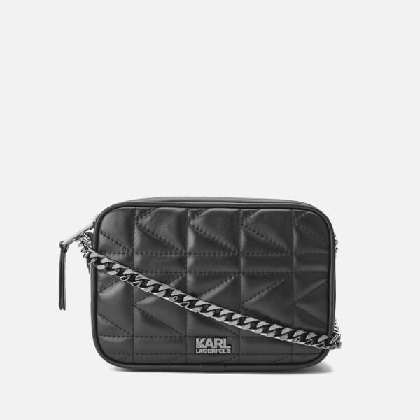 727536ab1a Karl Lagerfeld Women s K Kuilted Small Cross Body Bag - Black Black  Image