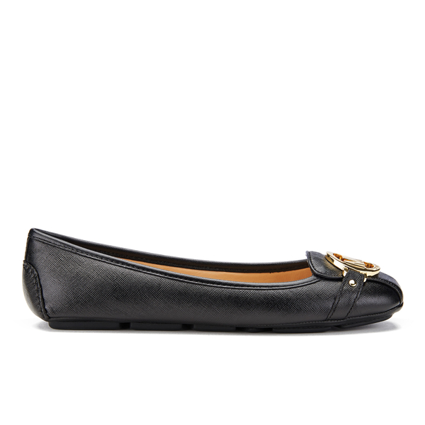 MICHAEL MICHAEL KORS Women's Fulton Leather Mocc Ballet Flats - Black
