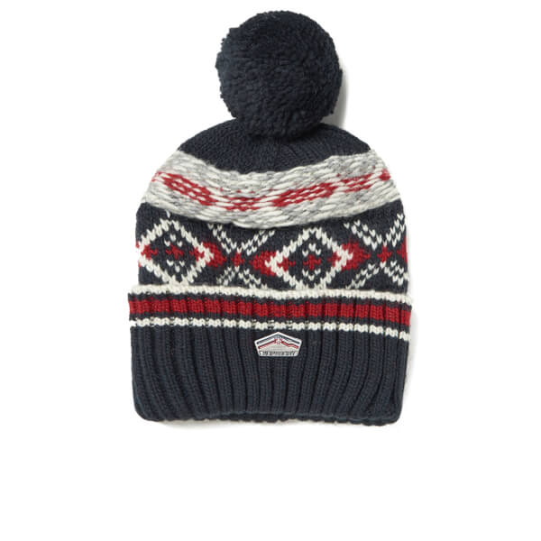 Superdry Men s Malmo Fairisle Beanie Hat - Dark Navy Mens ... 42d48ef8940
