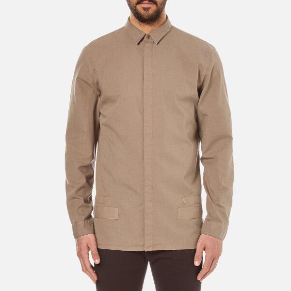 Helmut Lang Men's Canvas Long Sleeve Shirt - Shale Green
