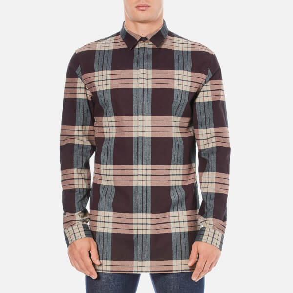 Helmut Lang Men's Heritage Plaid Shirt - Wine