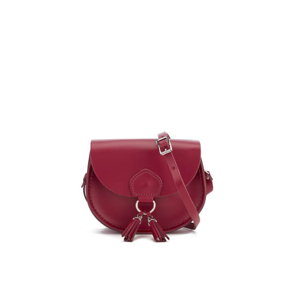 The Cambridge Satchel Company Women's Mini Tassel Cross Body Bag - Rhubarb Red
