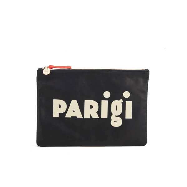 Clare V. Women's Flat Supreme Clutch Bag - Black
