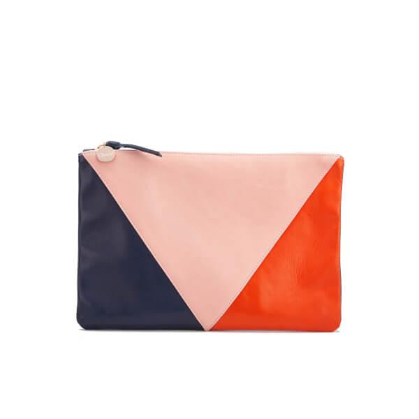 Clare V. Women's Flat Patchwork Clutch Bag - Multi