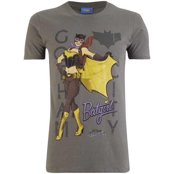 DC Comics Bombshells Men's Batgirl T-Shirt - Grey
