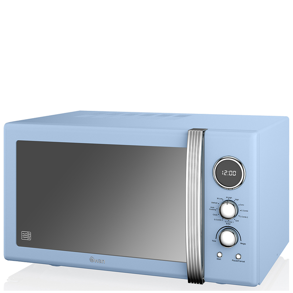 Swan Retro 25L Digital Combi Microwave with Grill - Blue