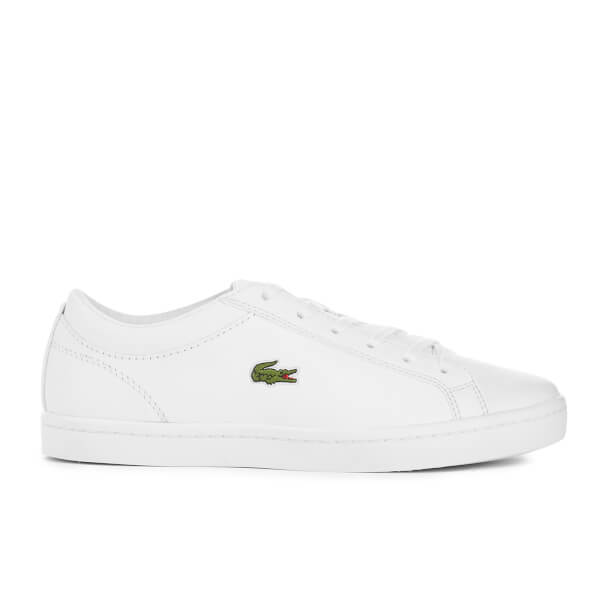 Lacoste Women's Straightset Bl 1 Leather Court Trainers - White