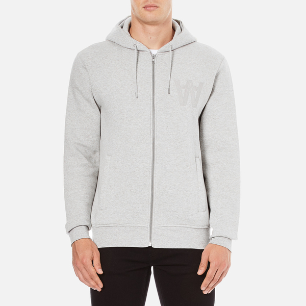Wood Wood Men's Leonard Zipped Hoody - Grey Melange
