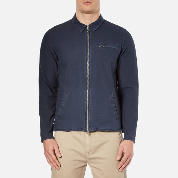 Folk Men's Zipped Denim Shirt - Denim Twill