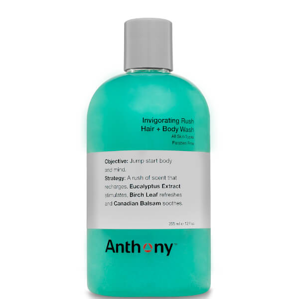 Gel de Cuerpo y Pelo Invigorating Rush de Anthony 355 ml