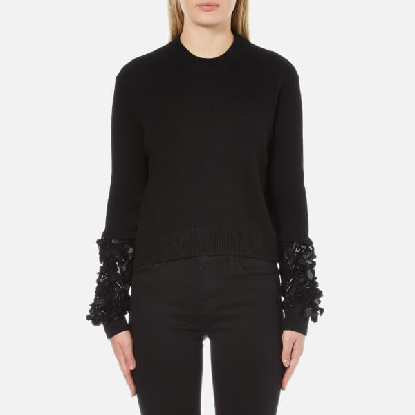 McQ Alexander McQueen Women's Cluster Sleeve Crew Neck Jumper - Darkest Black