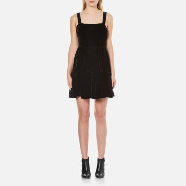 McQ Alexander McQueen Women's Short Gath Panel Dress - Black