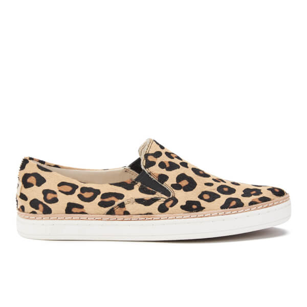 UGG Women's Keile Calf Hair Slip-on Trainers - Chestnut Leopard