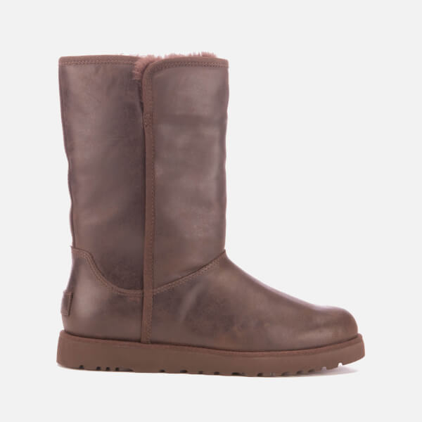 UGG Women's Michelle Leather Classic Slim Sheepskin Boots - Stout