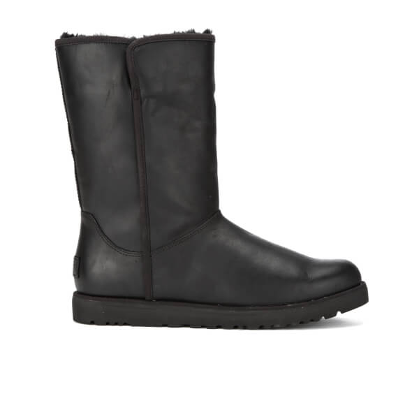 UGG Women's Michelle Leather Classic Slim Sheepskin Boots - Black: Image 1