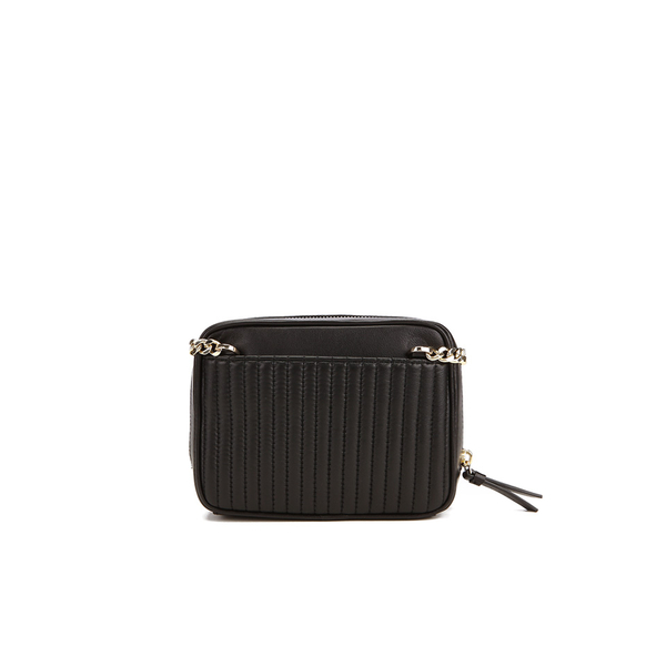 07502072a0 DKNY Women s Gansevoort Pinstripe Quilted Square Crossbody Bag - Black   Image 6