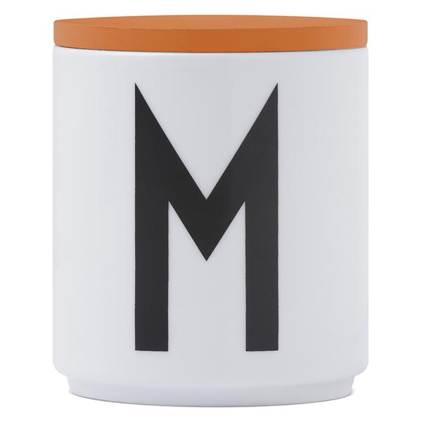 Design Letters Wooden Lid For Porcelain Cup - Orange