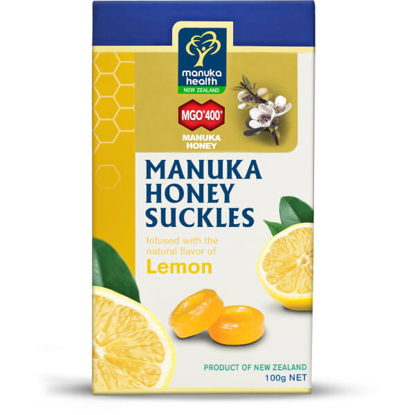 Manuka Health Manuka Honey Suckles with Lemon MGO 400+ 100g