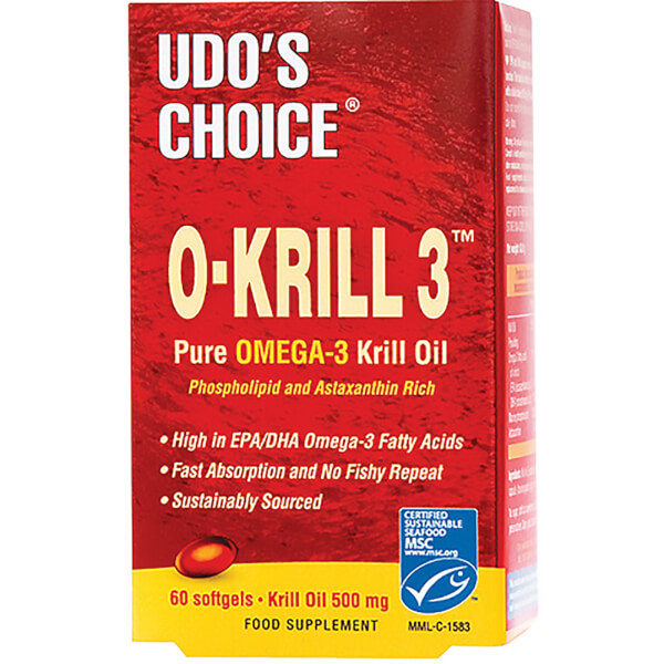 Udo's Choice O-KRILL 3™ Pure Omega-3 Krill Oil - 60 Caps (500mg)