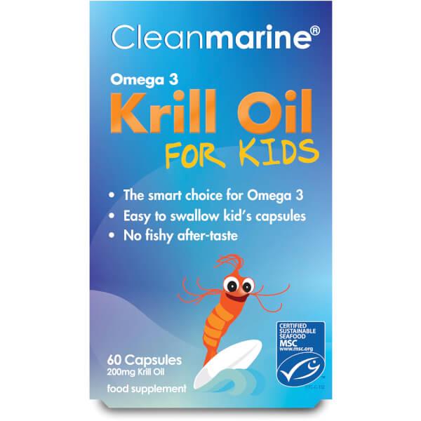 Cleanmarine Krill Oil for Kids - 60 Gel Capsules (200mg)