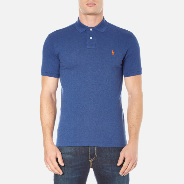 Polo Ralph Lauren Men's Short Sleeve Custom Fit Polo Shirt - Beach Royal Heather