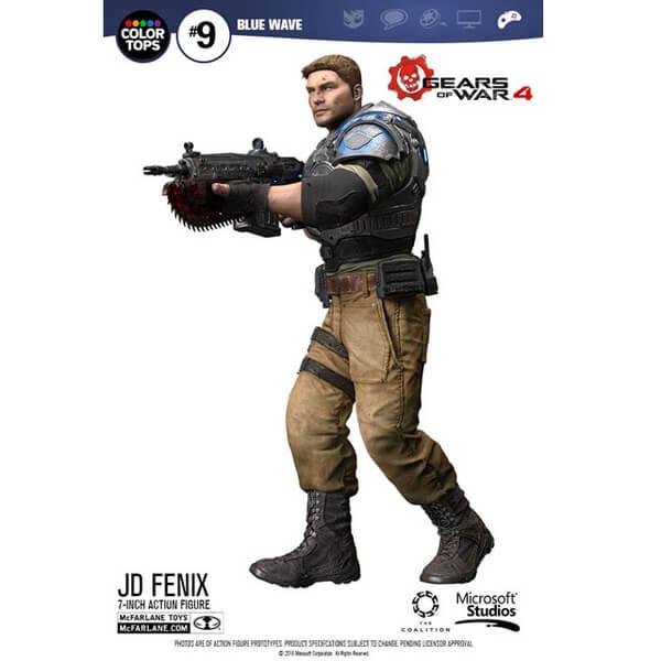 Blue Wave Gears of War 4 JD Fenix Figure
