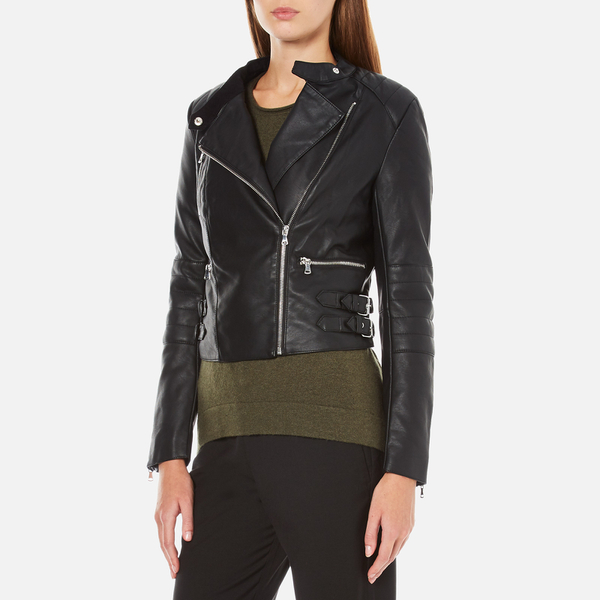 French Connection Women S Decade Biker Jacket Black