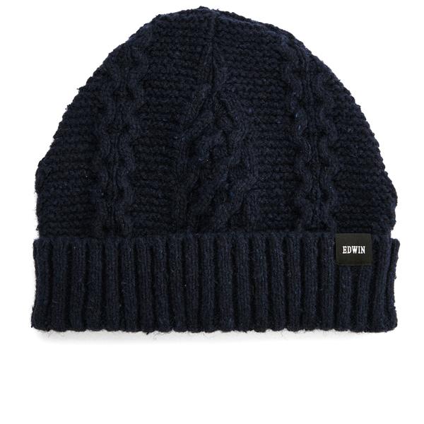 Edwin Men's United Beanie Hat - Navy