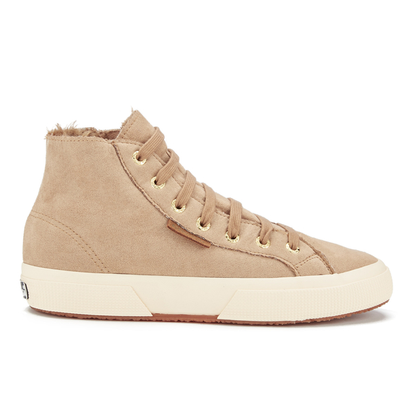 Superga Women's 2795 Syntshearlingw Hi-Top Trainers - Beige