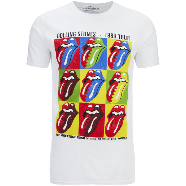 Rolling Stones Men's Forty Licks 1989 Tour T-Shirt - White