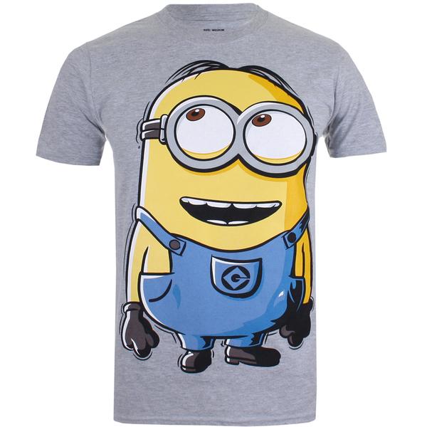 Minions Herren Dave T-Shirt - Grau