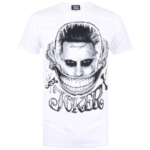 T-Shirt Homme DC Comics le Sourire du Joker - Blanc - S - Blanc