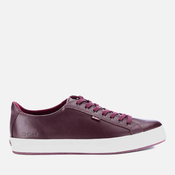 Kickers Men's Tovni Lacer Leather Trainers - Dark Red