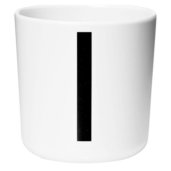 Design Letters Kids' Collection Melamin Cup - White - I