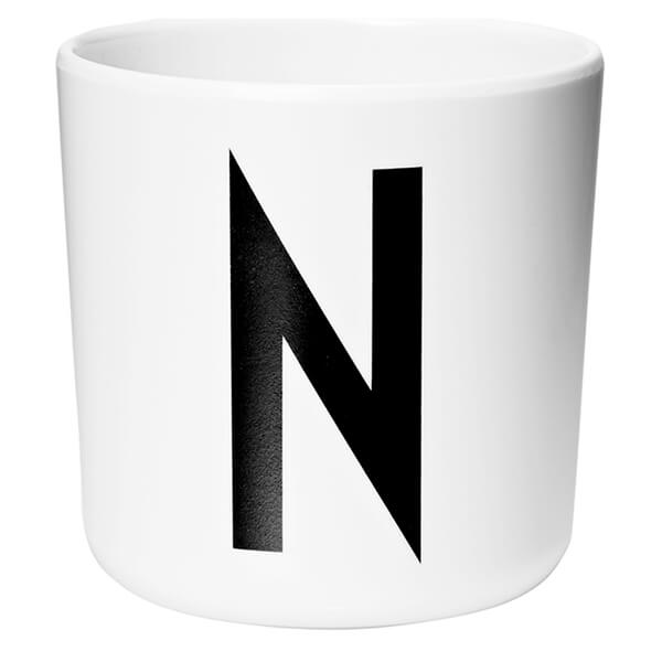 Design Letters Kids' Collection Melamin Cup - White - N